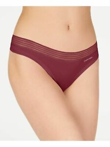 CALVIN KLEIN Intimates Maroon Solid Everyday Thong Size: M