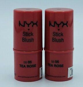 2 X NYX Stick Blush-05 Tea Rose-0.21 oz