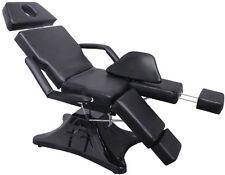 Kosmetikliege Fußpflegestuhl Massageliege Tattooliege Behandlungsliege 1556 sw
