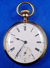 18k Solid Gold Dubois Geneve Signe Droite Pocket Watch Mint Condition