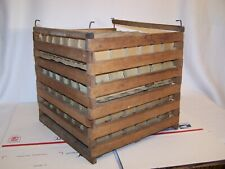 Antique Wooden Large Capacity Egg Crate (Includes Sleeves/Trays)