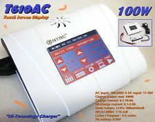 "Caricabatteria 220/12v IMAX HTRC T610AC ""TOUCH SCREEN"" per LIPO LIFE NiMh PB 10A"