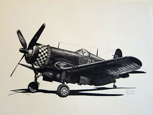 WW2 Aircraft P-51 P-47 P-38 F4U B-24 B-29 C-47 PT-17 LE Aviation Art 8 Prints