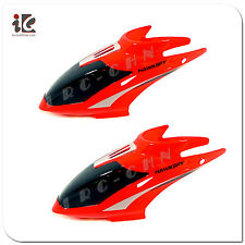 2 X RED HEAD COVER / CANOPY EGOFLY LT-712 HAWKSPY RC HELICOPTER PARTS LT 712-01