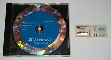 Microsoft Windows 7 Professional SP1 64bit Full Version DVD and Product Key COA
