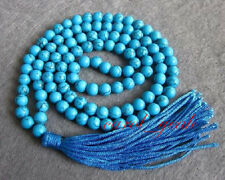 natural 108 6mm Turquoise Beads Tibet Buddhist Prayer Mala Necklace Bracelet