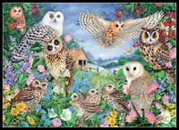 Owls in the Wood -Chart Counted Cross Stitch Patterns Needlework Craft DIY