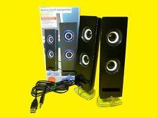 Multimedia Stereo-Lautsprecher für PCs/Notebooks/Tablet/Handy/ 3,5mm Klinke