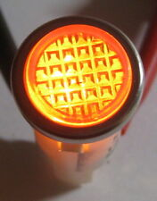 Amber w/ Steel Bezel Panel Mount Round Indicator Light - Solico 14V - 1 Watt