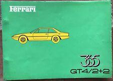 FERRARI 365 GT4 2+2 Spare Parts Manual Catalogue  78/73