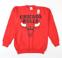 Tultex VTG Chicago Bulls NBA Sweatshirt Sweater Big Logo USA XL Red