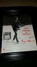 Bryan Adams Happy Christmas Snowfall Rare Original Promo Poster Ad Framed!