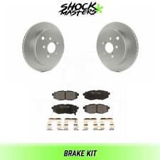 Rear Ceramic Brake Pad Set/&Rotor for 12 Subaru Legacy 2.5I-2.5I LTD-2.5I TOURING