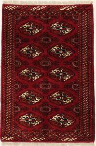 Tribal Style Red Farmhouse Handmade 3X5 Wool Area Rug Oriental Home Decor Carpet