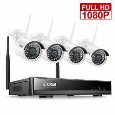 ZOSI 1080P 8CH Wireless NVR CCTV Security System 3000TVL Outdoor Wifi IP Camera