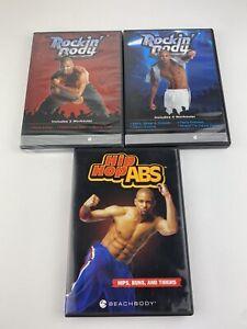 Lot of 3 Shaun T Beachbody Hip Hop Abs Workout DVD's rockin body Lot Of 3
