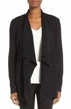 NEW Nordstrom Collection Cashmere Open Front Cardigan- Black size M