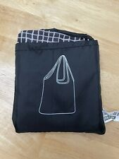 New IKEA Foldable Pocket Reusable Shopping Tote Bag ~ Black
