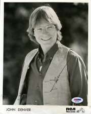 John Denver Psa Dna Coa Signed 8x10 Photo Autograph