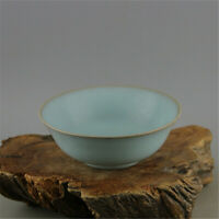 "6.3"" Old Chinese song ru kiln cyan glaze Porcelain tea bowl wine bowl Rice bowl"