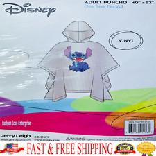 Disney Stitch Rain Poncho Lilo & Stitch Disney Poncho Adult Original