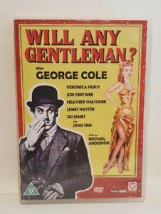 WILL ANY GENTLEMAN? (1953) DVD GEORGE COLE JON PERTWEE,  UK R2 DVD