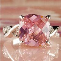 Size: 6 7 8 Crystal Ring Especial Jewelry Topaz White Tourmaline Gemstone Silver