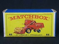 Box Only (Original): Matchbox Lesney MB65 - Claas Combine Harvester (Type E4)