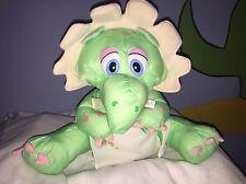 Plush Dragon Stuffed Animal Nylon Parachute Puffalump Style TLToys Orange Green