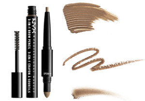 NYX MAKE UP '3 IN 1' BROW PENCIL. 10 SHADES CHOOSE YOUR COLOR. FREE SHIPPING!!