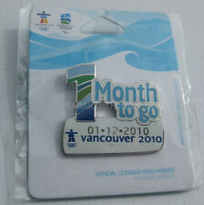 2010 Winter Olympic Retail 1 Month To Go Dated Pin