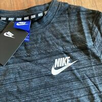 Nike Sportswear Advance 15 T-Shirt Damen Schwarz Grau Kurzarm Gr XS 885381-010