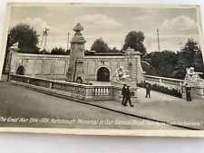Old Postcard  Portsmouth War Memorial
