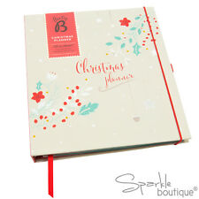 Christmas Planner Book & Notepad -5 Year Xmas Organiser for Cards/Gifts/Recipes