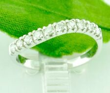 14k Solid White Gold 0.33 ct Ladies Natural Band twist Diamond Ring Pre owned
