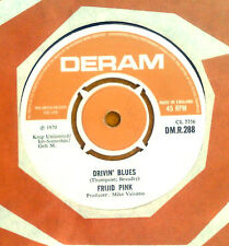 "FRIJID PINK  "" DRIVIN ' BLUES / HOUSE OF THE RISING SUN "" RARE ORIG UK 7"""