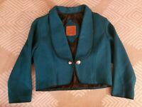Mid-West Garment Co Wool Turquoise Western Bolero Concho Womens  Medium