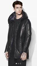 John Varvatos Collection Down Leather Parka Coat . 54, US 44. $2698