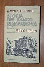 Storia del Banco di Sardegna Credito Istituzioni Sviluppo - TONIOLO -  LATERZA