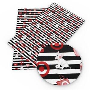 "Target Dog Stripe FAUX LEATHER SHEET 9"" X 12"" WHOLESALE PRINTED 1116716"