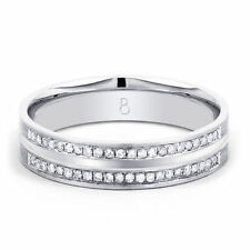 Band Very Good Cut White Gold I1 Fine Diamond Rings