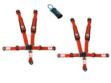 Simpson Latch & Link Harnesses 2x2 Red W/Black Hardware Bolt In Polaris Bypass