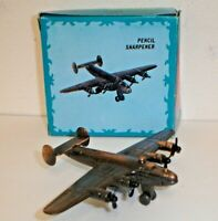 Vintage USAF B-24 Liberator Bomber Airplane Die-Cast Metal Pencil Sharpener 112