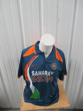 VINTAGE NIKE SAHARA INDIA CRICKET NATIONAL TEAM KEYUR #10 XL BLUE  JERSEY