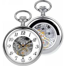 Open Face Analog Silver Plated Pocket Watches