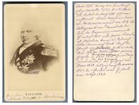 Louis XVIII de France d'après un dessin  CDV vintage albumen, Louis XVIII,