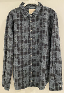 """NWT Sundance Catalog CP Shades Blue Embroidered """"Olivia Top"""" Size L $198"""