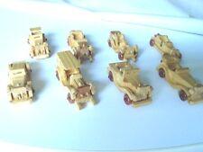 8 Automobiline in legno, modelli anni 30-40, lunghezza cm. 9