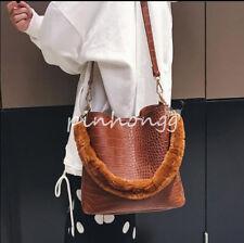 Damentasche Handtasche Fashion Freizeit Einträger Faux-Pelz Schultertasche Tend