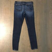 Rag & Bone Kensington Skinny Stretch Denim Jeans Dark Blue Woman's Size 28